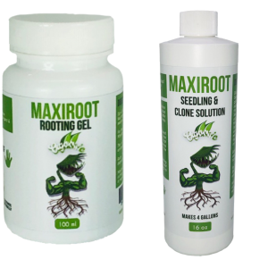 MAXIROOT Organic Seedling & Clone Solution Fertilizer & Organic Rooting Gel